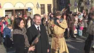 Pokaz walki na szable zademonstrowany przez Familię Szlachecką w Cieszynie 11.11.12