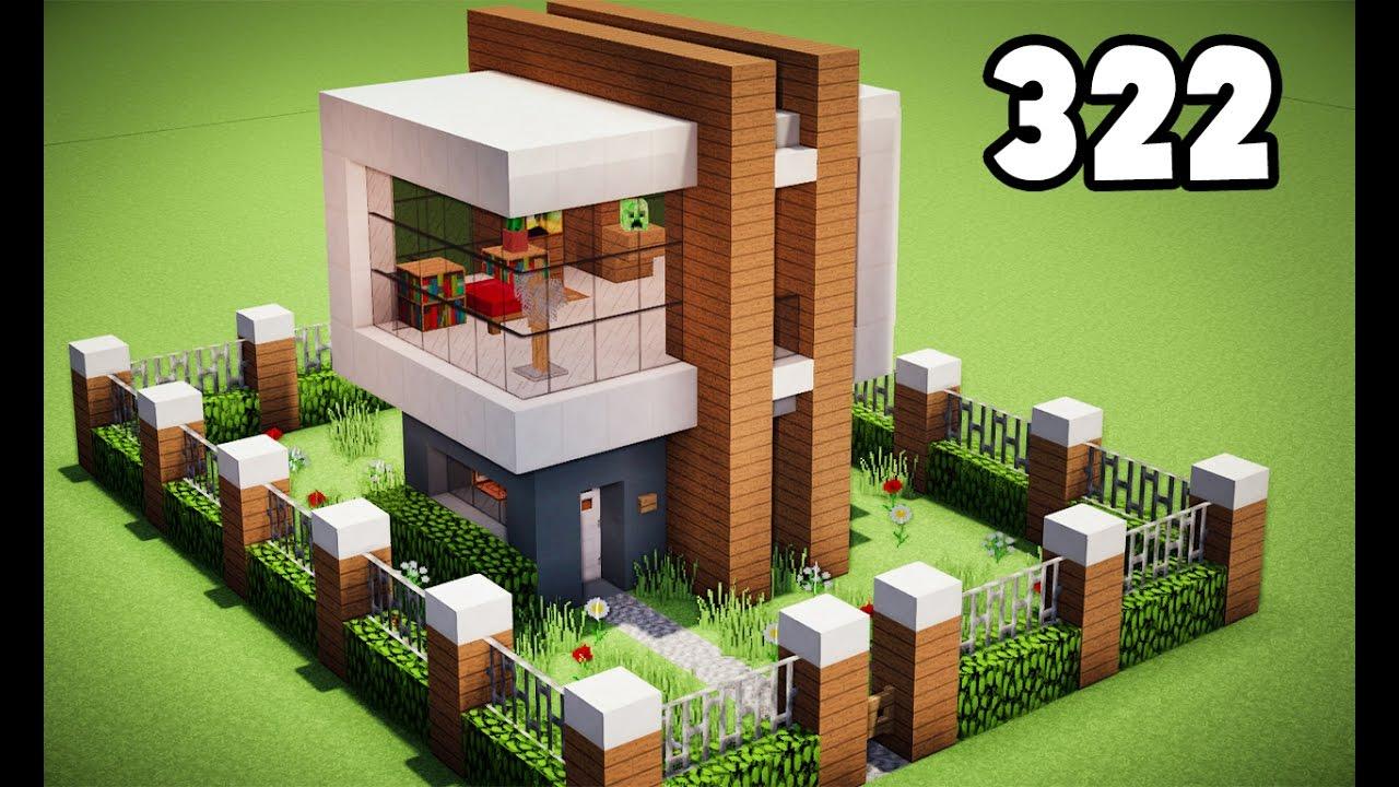 Minecraft como fazer uma casa moderna tutorial 322 youtube for Casa moderna facil minecraft tutorial