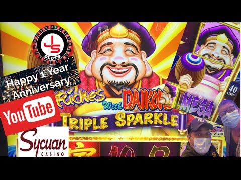 Download 1 Year Celebration - We landed the MEGA Jackpot!! Riches With Daikokos Triple Sparkle Slot!!