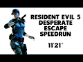 Resident Evil 5 Desperate Escape Speedrun 11 21 World Record PS4 XB1 PC mp3