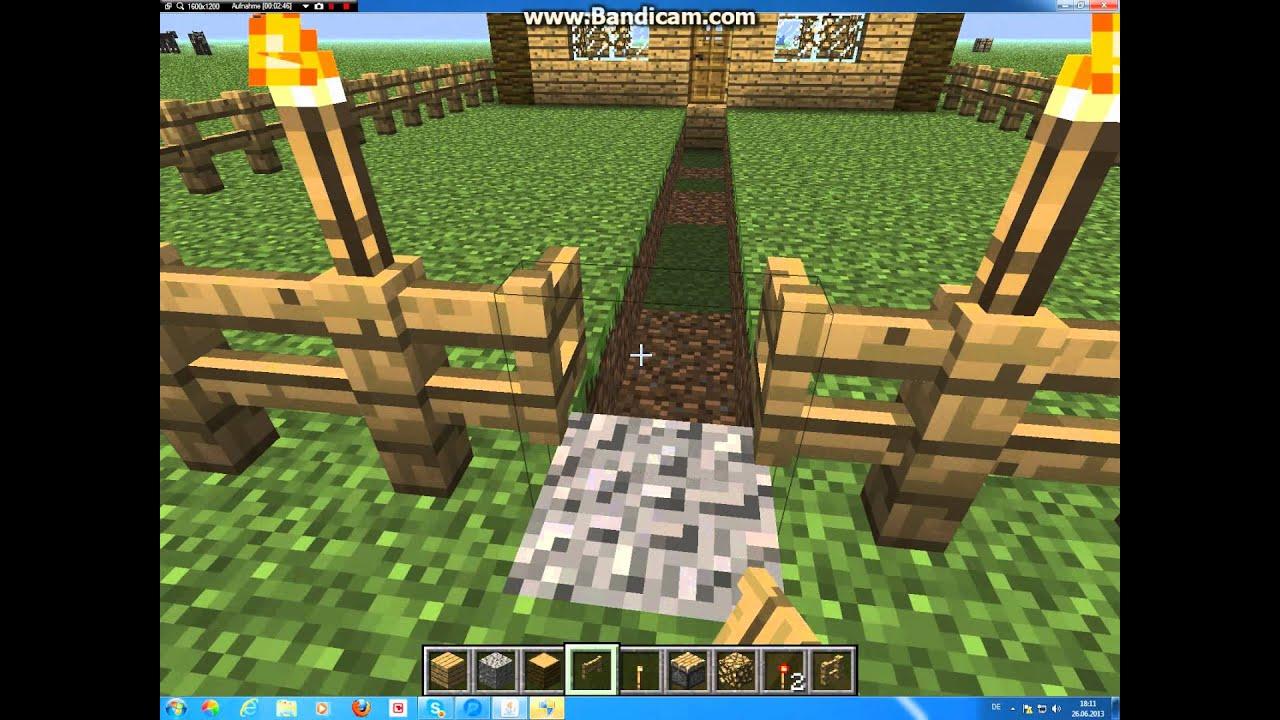 Wie baut man in Minecraft ein kleines Haus#2.avi - YouTube