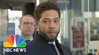 Watch Live: Jussie Smollet, Lawyers Speak After All Charges Dropped In Chicago | NBC News