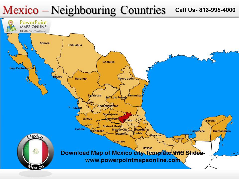 Download Map Of Mexico City Template And Slides YouTube - A map of mexico