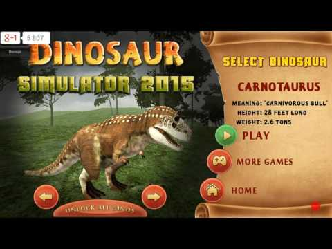 Симулятор Динозавра 2015 - открываем Карнотавра