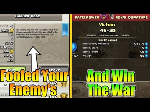 Fool Your Enemy's In Clan War And Win Every War With This Trick | Clan war Tips