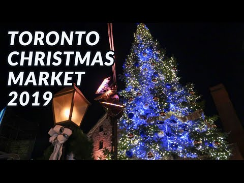 Toronto Christmas Market 2019   Distillery District   FULL TOUR