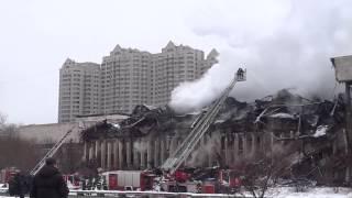 пожар в библиотеке ИНИОН РАН на Нахимовском проспекте