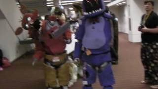 Anthrocon 2016: Five Nights at Freddy's in Real Life! Foxy & Bonnie!