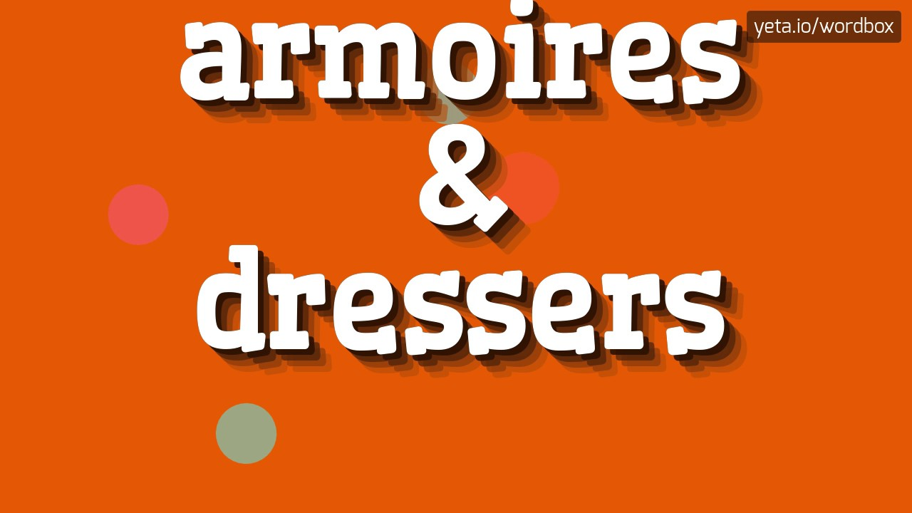 Armoires Dressers How To Pronounce It Youtube