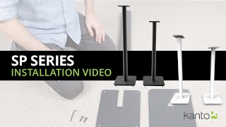 How to install a speaker stand - SP26PL & SP32PL | Kanto Audio
