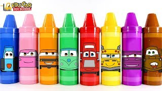 Learning Color spechial Disney Cars Lightning McQueen Big size crayon case Play for kids car toys