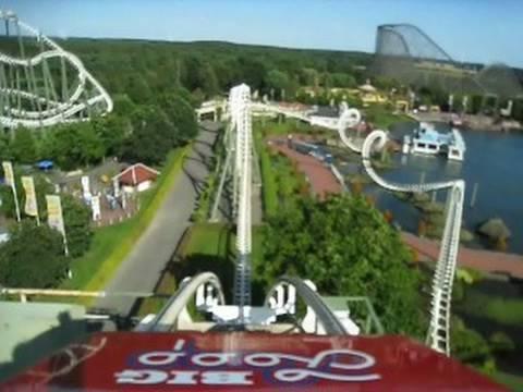 Big Loop Front Seat On Ride Pov Heide Park Youtube
