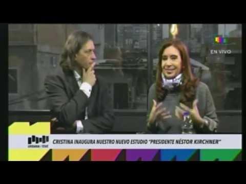Cristina Kirchner en la Villa 31 en Urbana TV
