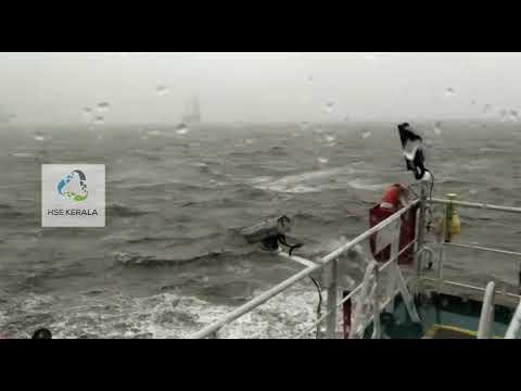 ONGC Papa 305 barge Accident & Rescue   HSE Kerala   Tauktae in Mumbai