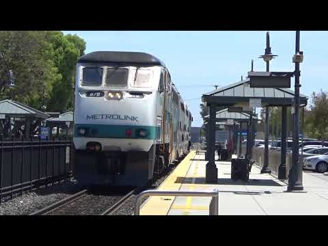 Orange Metrolink Station Afternoon Metrolink Train - April 25, 2018