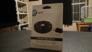 ONN 3-DEVICE HDMI SWITCH REVIEW