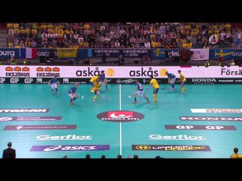 WFC2014 Sweden Vs Finland Floorball Male
