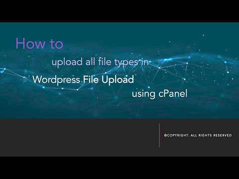 Wordpress Tutorial - upload various file extensions .svg .eot .tff wof. woff2 thumbnail
