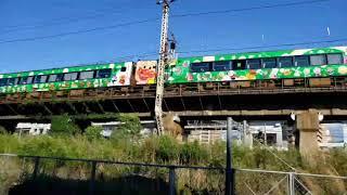 2000系アンパンマン列車グリーン編成が岡山にやって来た!