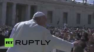 Vatican City: Pope Francis meets former Pope Benedict