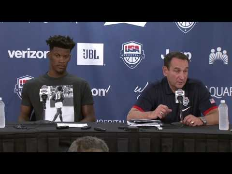Jimmy Butler & Coach K Postgame Interview | USA vs Venezuela | 2016 USA Basketball Showcas