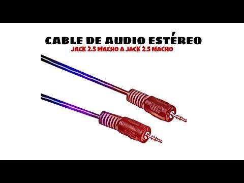Video de Cable de audio estereo jack  2.5 macho a jack 2.5 macho 1.5 M Negro