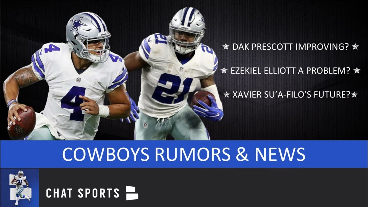 sports shoes 75a7c 95496 Cowboys Rumors: Dak Prescott Improving, Ezekiel Elliott Issues, Randall  Cobb & Xavier Su'a-Filo