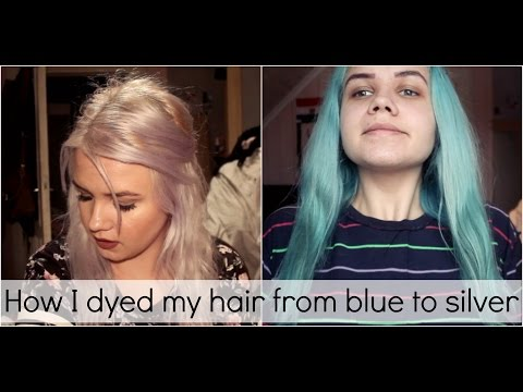 How I dyed my hair from blue to silver (ish)