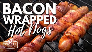 Bacon Wrapped Hot Dogs On The Bbq | Cooking With Bacon