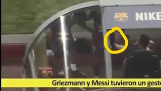 What actually happened between Messi and Griezmann