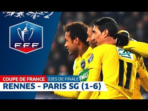 Coupe de France, 32es de finale : Rennes - Paris SG (1-6), résumé I FFF 2018