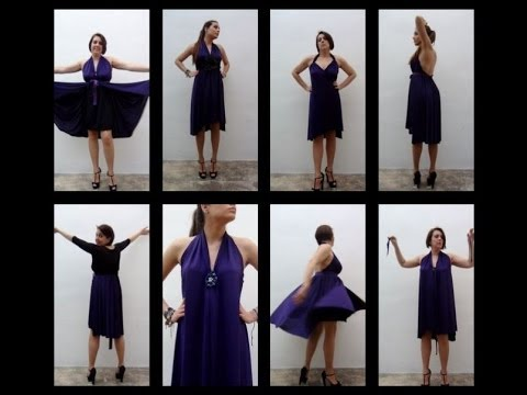1c3e5417ae Cómo hacer un vestido sin dar una sola puntada - How to make a dress  without sewing - Design 101