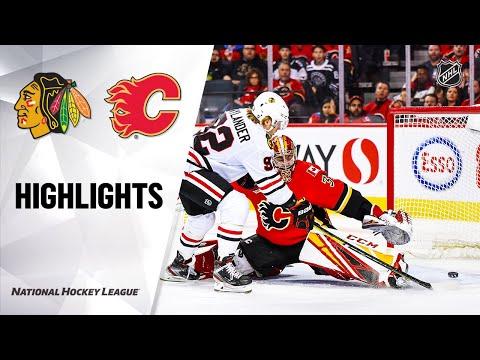 NHL Highlights | Blackhawks @ Flames 02/15/20
