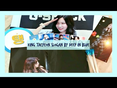 💦 'king taeyeon' slogan by deep in blue / taeyeon fansite