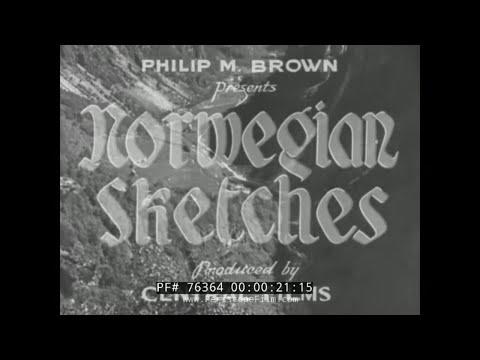 1930s NORWAY TRAVELOGUE  OSLO  BERGEN   76364