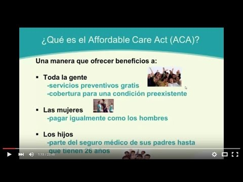 Affordable Care Act Marketplace Insurance -Spanish