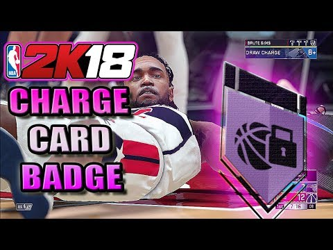 NBA 2K18 - EASIEST WAY TO TAKE CHARGES IN NBA 2K18 | CHARGE CARD BADGE