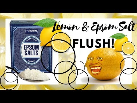 Epsom Salt & Lemon Colonic Flush!!! WARNING - This Video Contains Unpleasent Sounds. (NN 140)