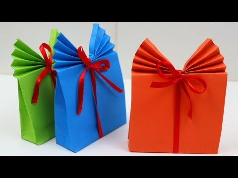 DIY Crafts: How to Make Easy Paper Gift Bag Tutorial | Gift Wrap Ideas for Mother's Valentine's Day!