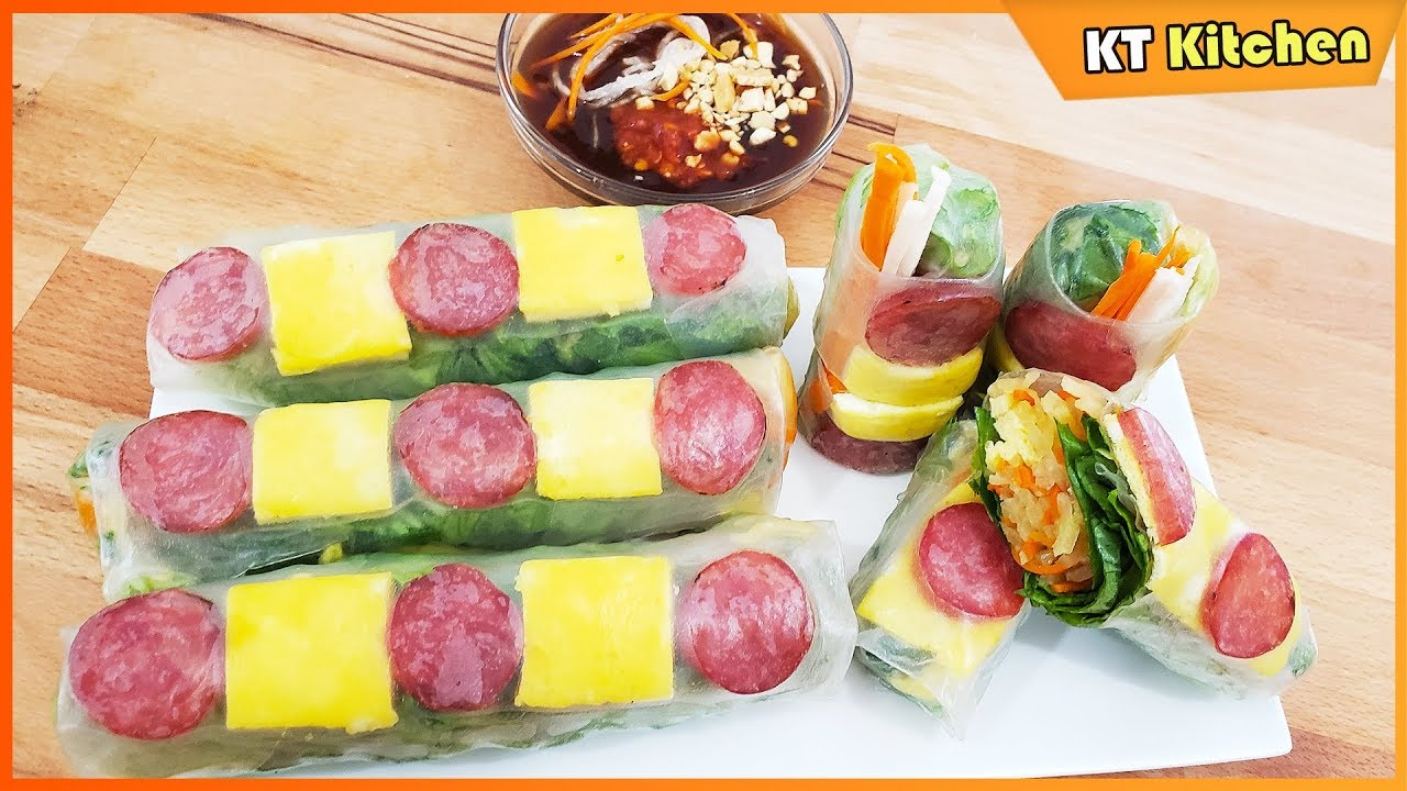BÒ BÍA – Cách Làm Nước Chấm Bò Bía Thơm Ngon Đúng Vị Sài Gòn – Summer Rolls Recipe – ENGLISH CAP