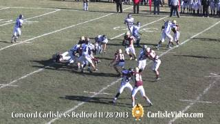 2013 Thanksgiving Game Concord Carlisle vs Bedford