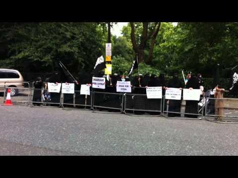 Gender divided protest in Belgrave Square