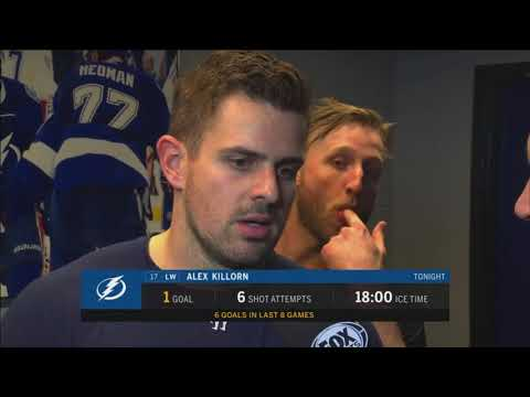 Alex Killorn -- Tampa Bay Lightning vs. Detroit Red Wings 02/15/2018