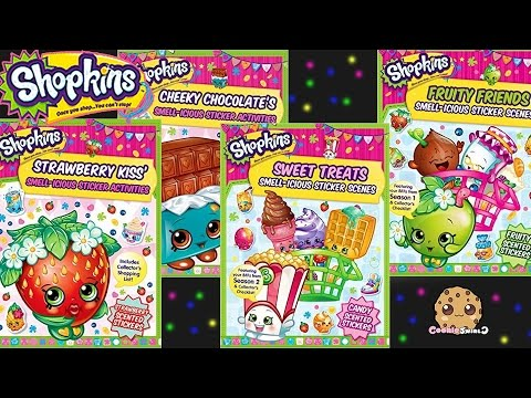 4 Shopkins Smell-icious Activities Books With Scented Stickers Review Video Cookieswirlc