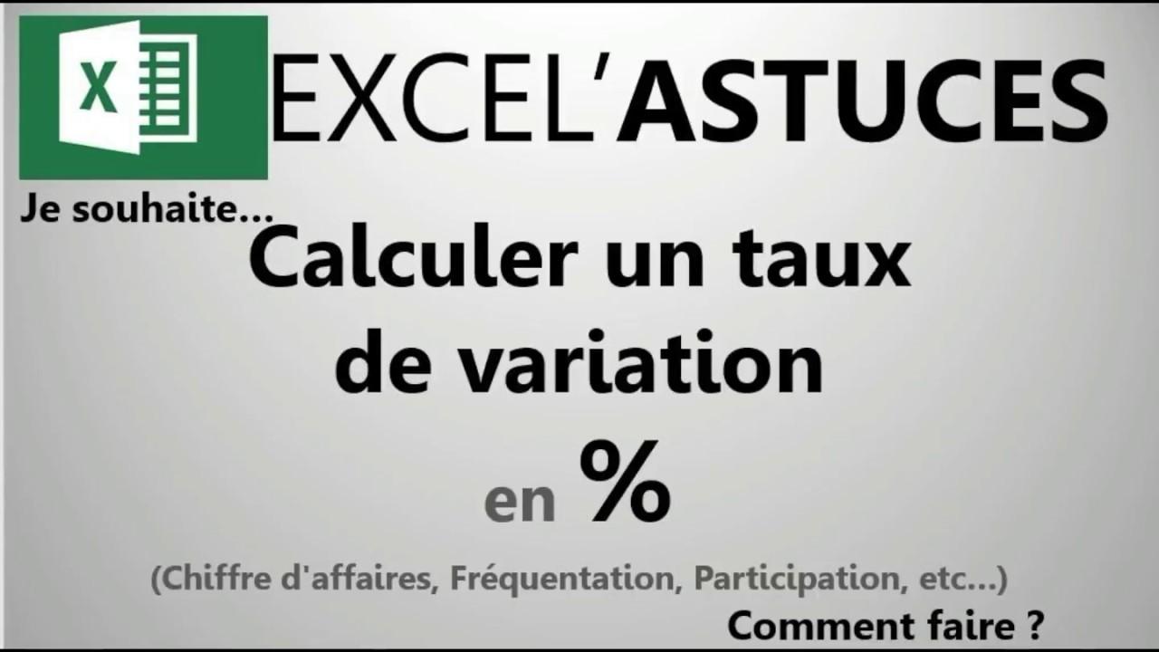 Excel Calculez Une évolution En Pourcentage 12