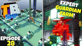 Truly Bedrock S2 Ep28! Expert GUARDIAN FARM Complete! Bedrock Edition Survival Let's Play!