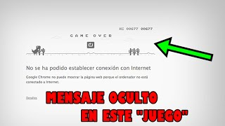 EL VERDADERO PROPOSITO DETRAS DEL JUEGO DEL DINOSAURIO DE GOOGLE CHROME