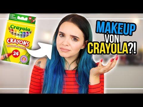 Ähhhh… was? MAKEUP von CRAYOLA?! 🤔LIVE TEST / Review