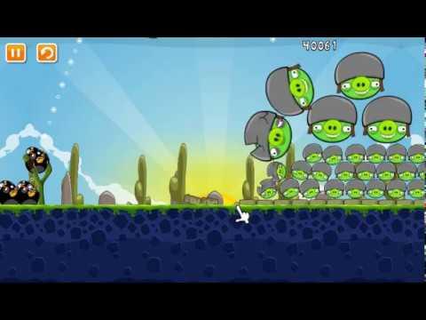 Cartoon game for kids about ANGRY BIRDS МУЛЬТИК ИГРА БОЛЬШИЕ злые птички против зеленых свиней