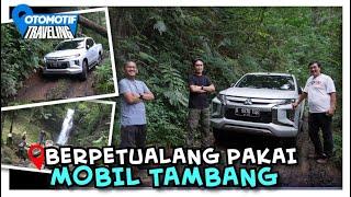 Pakai Mitsubishi Triton Masuk Hutan di Cisarua, Bogor, Bodi Bongsor Bikin Ngilu...